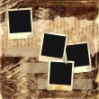 Stock Photo: Grunge abstract background with frames for photo.