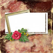 Royalty-Free Stock Photo: Framework for a photo or congratulation with red rose bouquet.