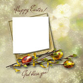 Framework for greeting or invitation. The easter background. — Photo