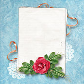 Page for a photo on the abstract background with a lace. — Stock Photo