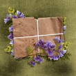 Stock Photo: Card for greeting or invitation on vintage background.