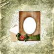 Royalty-Free Stock Photo: Romantic vignette on the vintage background in scrapbooking styl