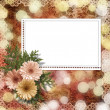 Card for congratulation or invitation with flower on abstract ba — Stock Photo #9186140
