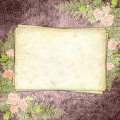 Cards for greeting or invitation on the vintage background. — Stock Photo