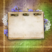 Сard for greeting or invitation on the vintage background. — Stock Photo
