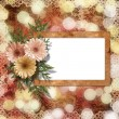 Card for congratulation or invitation with flower on abstract ba — Stock Photo