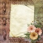 Elegant framework for invitation on the abstract background. — Stock Photo