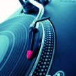 Turntable playing vinyl record — Stock Photo #9048392