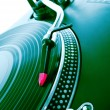 Turntable playing vinyl record — Stock Photo #9138715