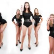 Collage of group of hot young women in bodysuits — Stock Photo #9174629