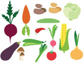 Set of vegetables — Vector de stock