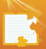 Autumn school background — Vector de stock