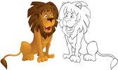 Catalano leon — Vettoriale Stock
