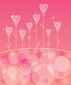 Valentines love flower — Vector de stock