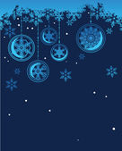 Blue background with snowflakes — Vetor de Stock