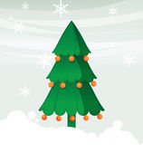 Christmas tree with ball — Vector de stock