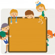 Stock Vector: Kids frame notice