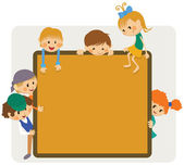 Kids frame notice — Vetorial Stock