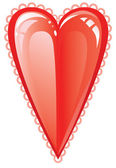Valentine love heart — Stock Vector