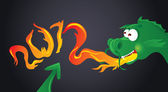 Chinese New Year - Dragon — Vector de stock