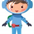 Stock Vector: Cartoon astronaut