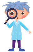 Cartoon scientist — Vector de stock
