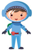 Astronauta de la historieta — Vector de stock