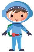漫画宇宙飛行士 — ストックベクタ