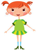 Cartoon little girl — Stock Vector