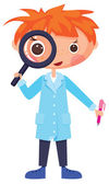 Cartoon scientist — Stock Vector