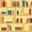 Stockvector : Bookshelf seamless