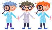 Cartoon scientists — Stock Vector