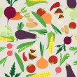 Vegetable seamless — Imagen vectorial