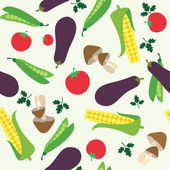 Vegetable seamless — Vector de stock