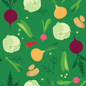 Vegetable seamless — Stockvector