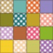 Royalty-Free Stock Vector Image: Patchwork background with different patterns