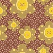 Seamless pattern with scrapbook flowers — Vector de stock #10131698