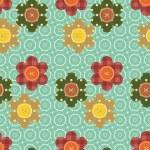 naadloze patroon met scrapbook bloemen — Stockvector