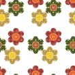 Seamless pattern with scrapbook flowers — Stockvektor