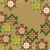 Seamless pattern with scrapbook flowers — Vetorial Stock