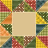 Cadre avec des éléments de patchwork — Vecteur