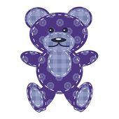 Nice teddy bear scrapbook — Stock Vector