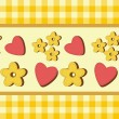 Background with hearts and flowers — ストックベクタ