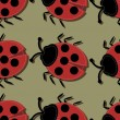 Royalty-Free Stock Vector Image: Seamless background with ladybirds