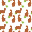 Royalty-Free Stock Vector Image: Seamless pattern with nice cats with clews