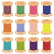 Color reels of thread — Stock Vector