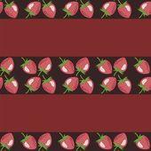 Inredning bakgrund med jordgubbar — Stockvektor