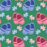 naadloze achtergrond met baby schoenen — Stockvector