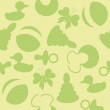 Stockvector : Seamless baby background