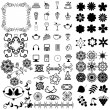 Many different objects on white background — Stock Vector
